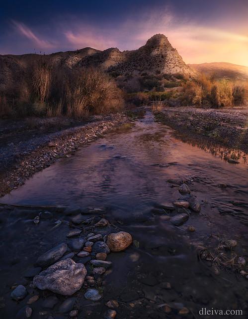 Rio Andarax al amanecer