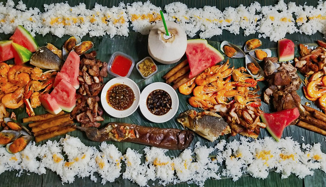 Filipino feast (Boodle Fight)