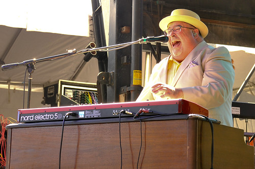 John Papa Gros at Blues & BBQ Fest 2018. Photo by Michael E. McAndrew.