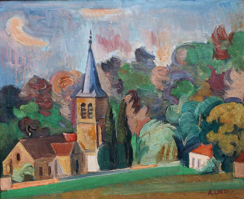 "André Lhote (1885 Bordeaux-1962 Paris) ""L'Eglise"""