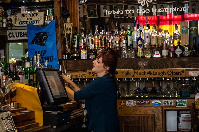 Tiffany the Bartender at Dugan's Pub
