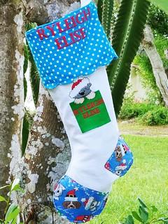 Custom Christmas Stocking for Dawn. www.etsy.com/shop/stitchcottage   by Stitchcottage