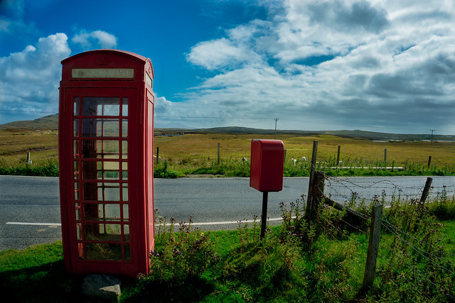 Phone cell in Outer Hebrides in Scotland