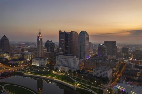 experiment lowlight drone architecture ariel cityscape