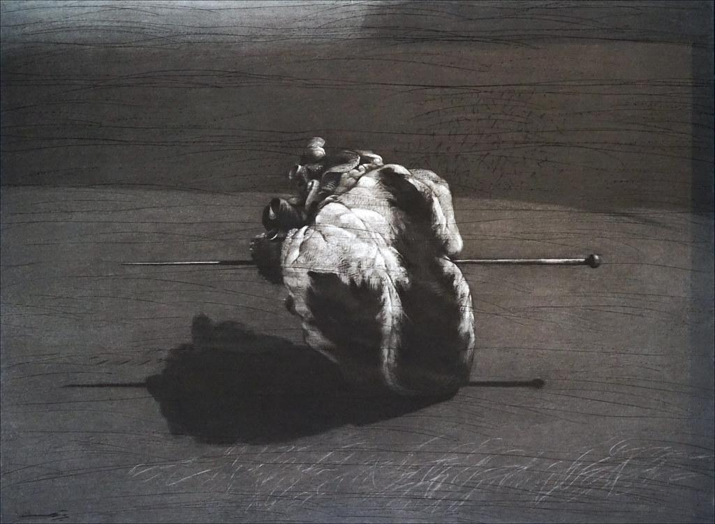 Coeur transpercé de Youssef Abdelké (Institut du monde arabe, Paris)