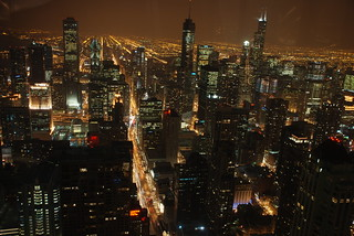 Chicago by night   by wilhelmja