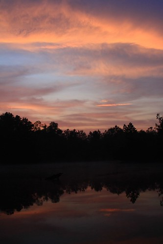 morning reflection nature sunrise ilovenature pond louisiana batonrouge mrgreenjeans gaylon canonef28135mmf3556isusm dirtpit gaylonkeeling