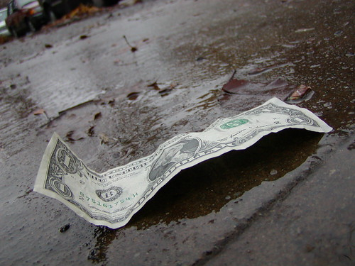 Dollar wet ground | by ceoln