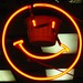smiling pizza neon by ranjit