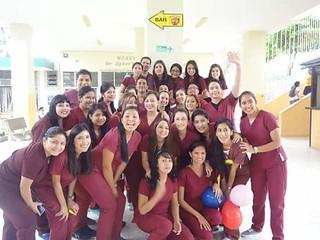 María Augusta como estudiantes de Medicina