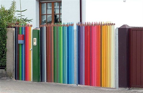 Fence of Crayons | by Saima