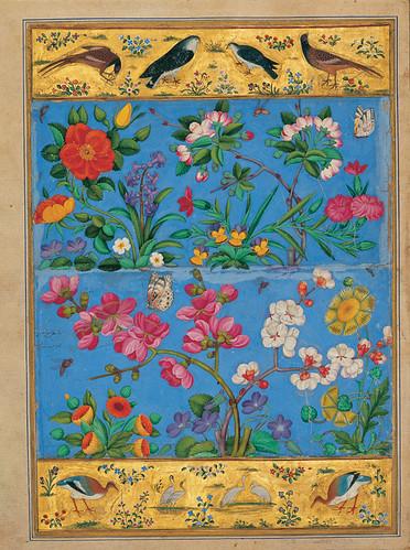 Мохаммед Юсуф, Персия, Дворец Голестан, Индийская Моракка, нач. 17 в., Цветы и Птицы