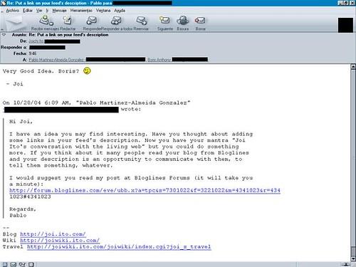 Screenshot email joi ito