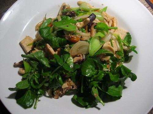 Udon noodles stir-fry