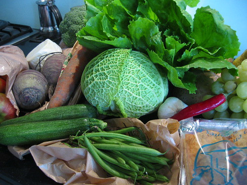 Farmers market harvest
