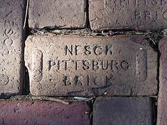 Brick from Pittsburg, KS
