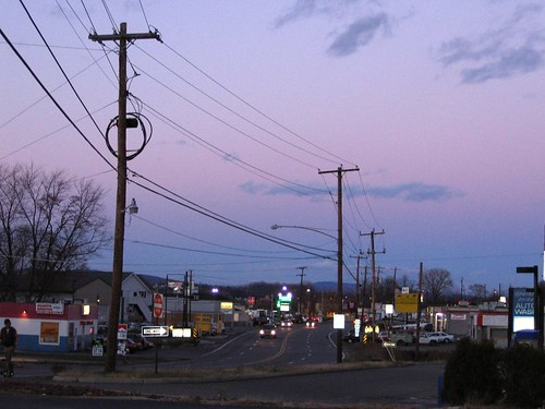 Sunset at the JiffyLube, Wilkes-Barre PA