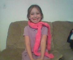 nikki in steph's scarf