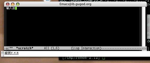 Emacs Standalone IM buffer