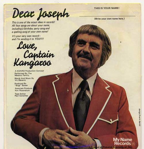 "Captain Kangaroo Name Record ""Joseph"" Back Cover | by Joe Crawford (artlung)"