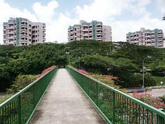 Bridge to Staff Apartments, Ngee Ann Polytechnic