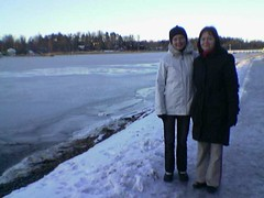 Eve & Tiina at Vartiokylänlahti