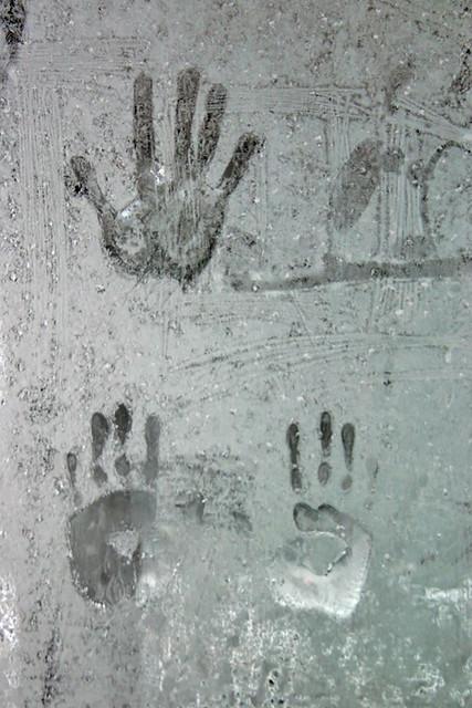 Hands Frozen in Ice