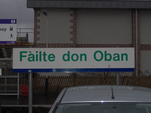 Welcome to Oban in Gaelic