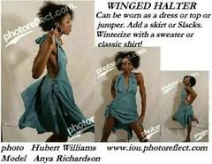 Winged halter