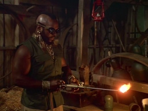 Mr T Makes Fire