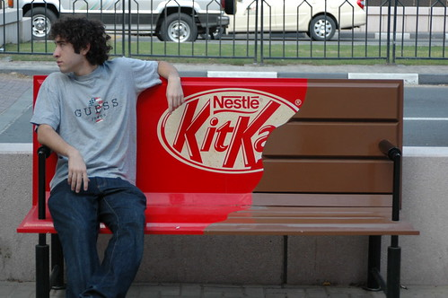 Alex on the KitKat bench | by Noah Dylan Goldblatt