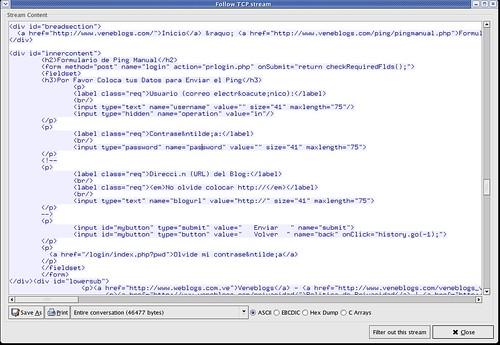 VeneBlogs HTML Form