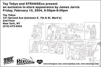 James Jarvis signing, Toy Tokyo (back)