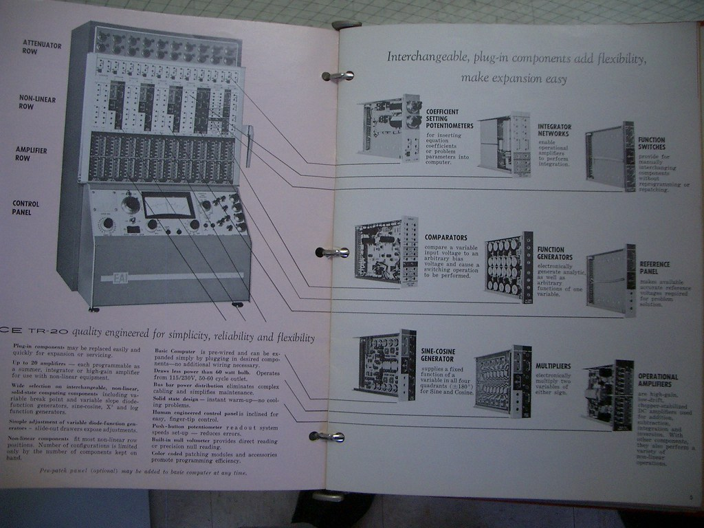 Analog Computer | some marketing from the manual of this 196
