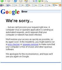 google sorry