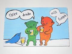Calli Painting - Three Drinks