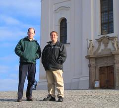 Karl and Jon at the Tihany Cathedral
