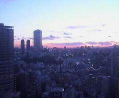 post rain sunset