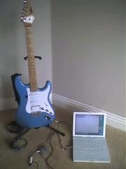 Guitar, iMic, iBook and GarageBand
