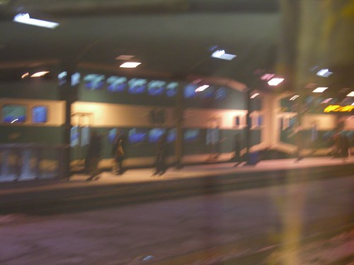 Double decker Go train in toronto