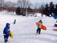 Matthews Park sliding hill