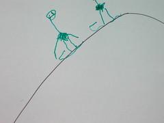 sledding ostriches