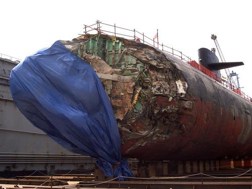 USS San Francisco Damage 1