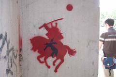 cool samurai stencil