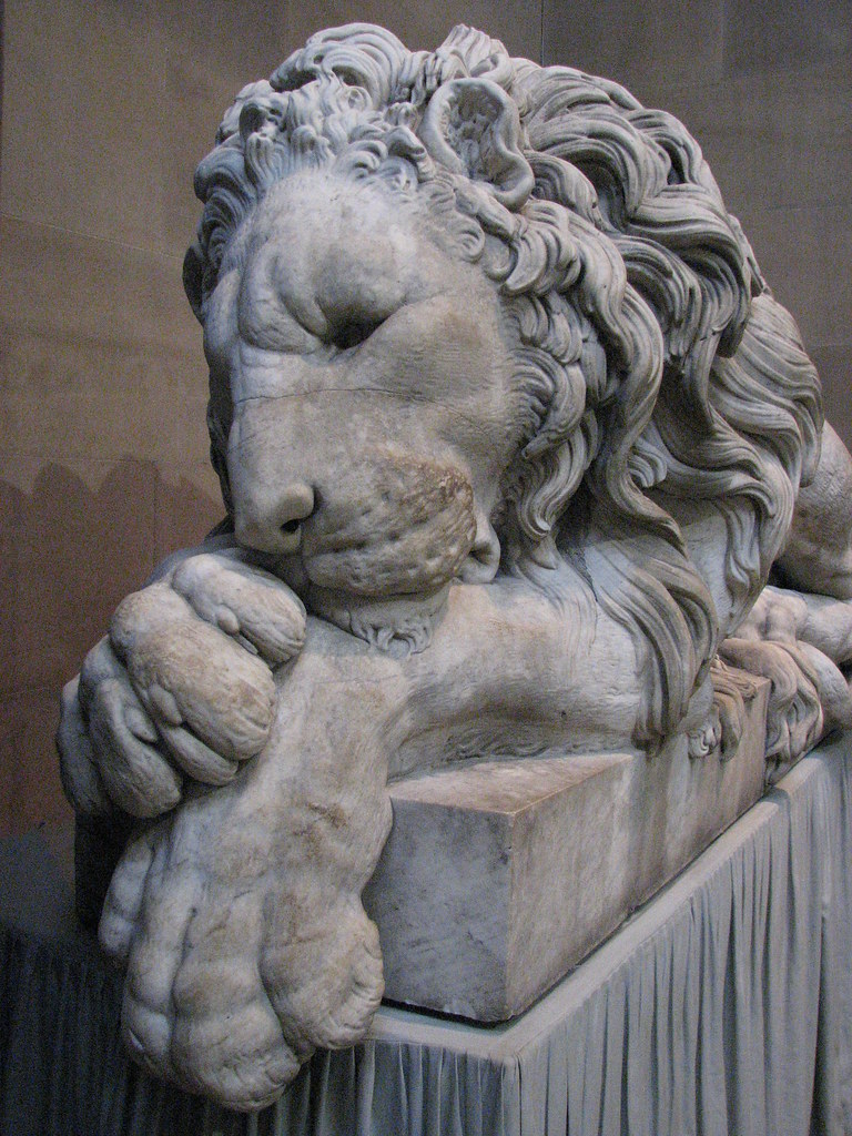 Sleeping Lion Chatsworth House Sleeping Lion By