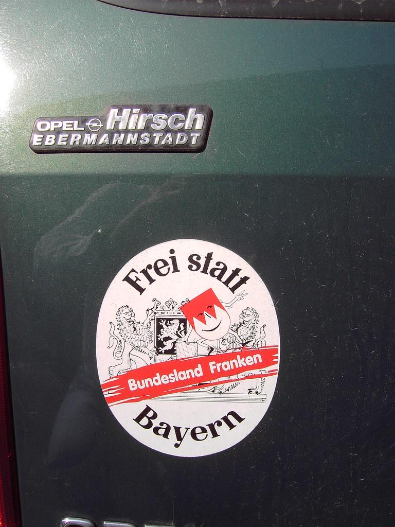 Frei Statt Bayern Aufkleber Auf Einem Auto In Erlangen Fr