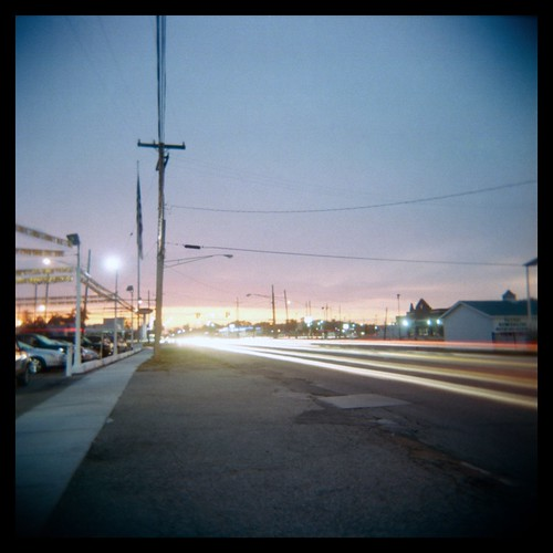 longexposure sun motion blur 6x6 clouds sunrise mediumformat dawn wire tripod toycamera headlights sidewalk squareformat hansolo conrete holga120n 7mile utilitylines redfordmichigan ralphkrawczykjr starwarsreference
