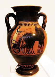 Figuras negras ceramica Museo Arqueologico Nacional de Atenas Grecia 077