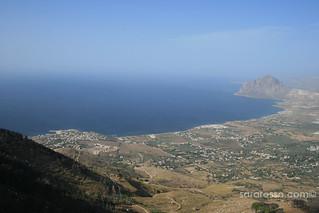 Trapani coast view from Castello Venere, Erice, Sicily | by MsAdventuresinItaly