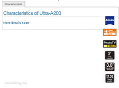 Sony A200 Spec on Sony France Website | by IvanImages